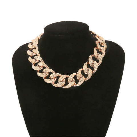 Exaggerated Big Golden Thick Chunky Chain Necklace
