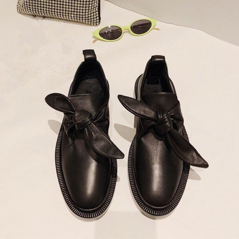England style genuine leather loafers Flat shoes