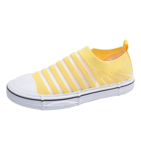 Espadrilles Sneaker Shallow Casual Stripe Net Flat Shoes