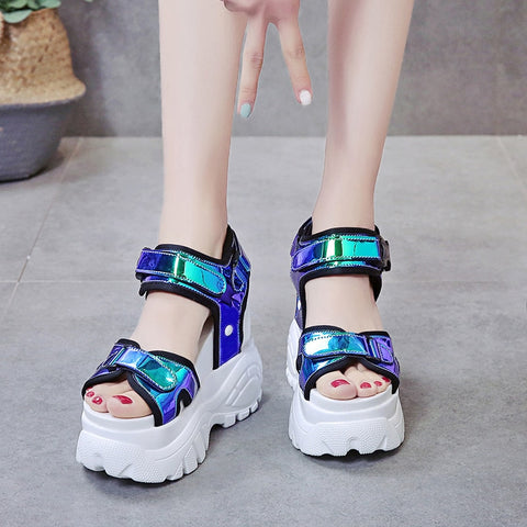 Platform Muffin Bottom Symphony Chunky Super High Heel Sandals