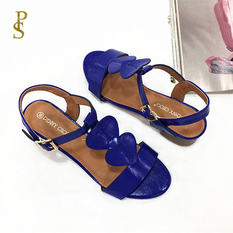 Cute with heart pattern sandals