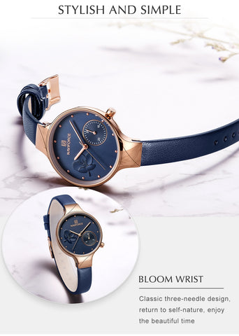 Luxury Leather Waterproof watch