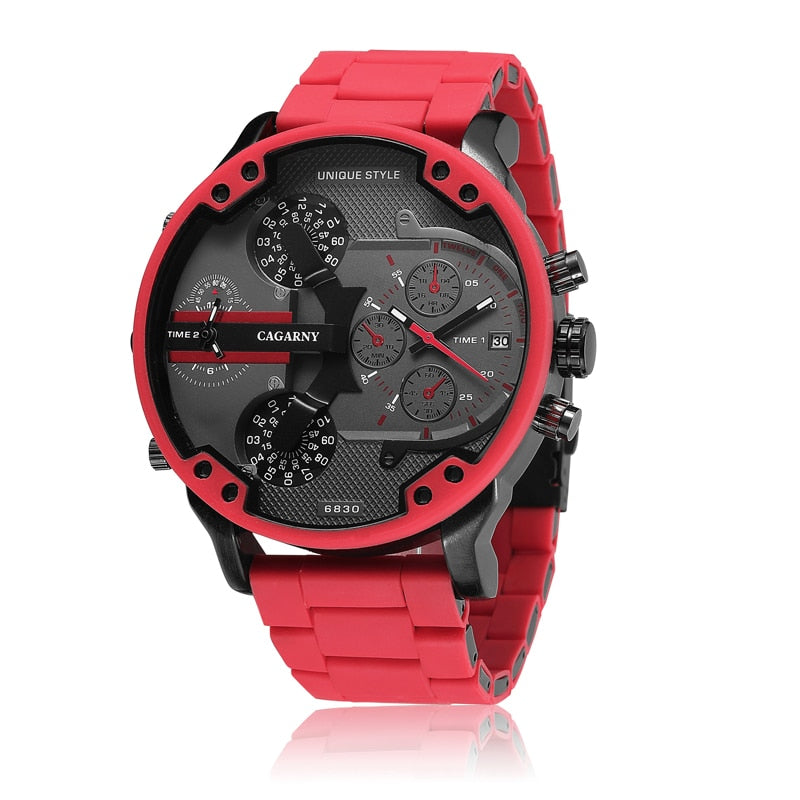 Luxury Silicone Steel Band Watch