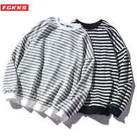 Stripe Wild Comfortable O-Neck Casual Sweatshirts