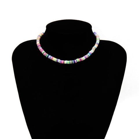 Colorful Soft pottery Choker Necklaces
