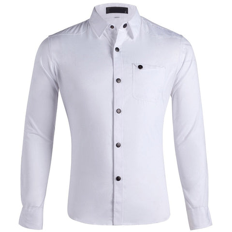 Solid Smart Casual No Ironing Dress Shirts