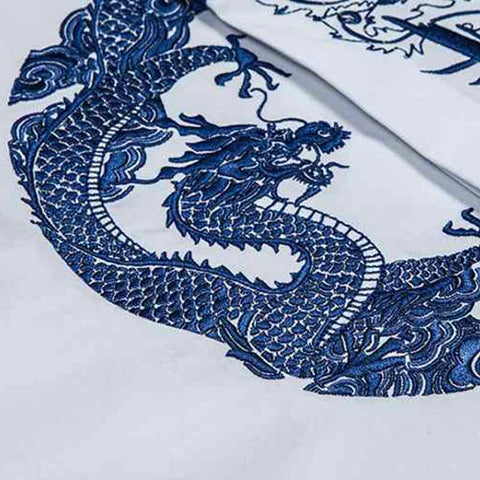 Casual Long Sleeve Cotton Royal Dragon and Cheung Dress Shirts