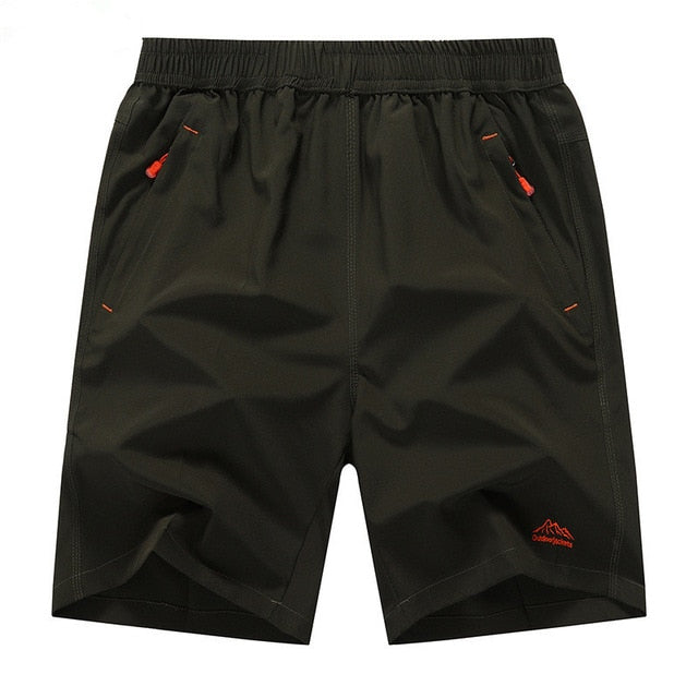 Solid Leisure Casual Quick drying Short