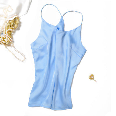 Silk Camisole Casual Solid Pure Silk Tank Tops