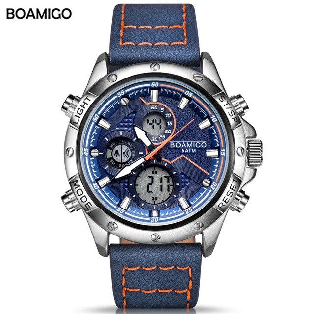 Military Digital analog Chronograph sport Watch