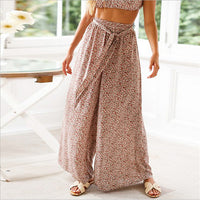 Palazzo Wide Leg High Waist Long Loose Casual Boho Bohemian Pants