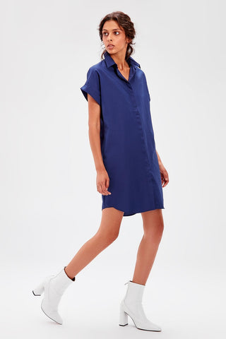Navy Blue Shirt Dresses