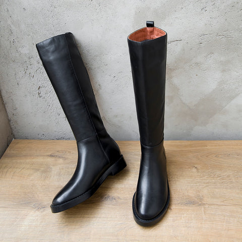 Knee High Soft Genuine Leather Boots