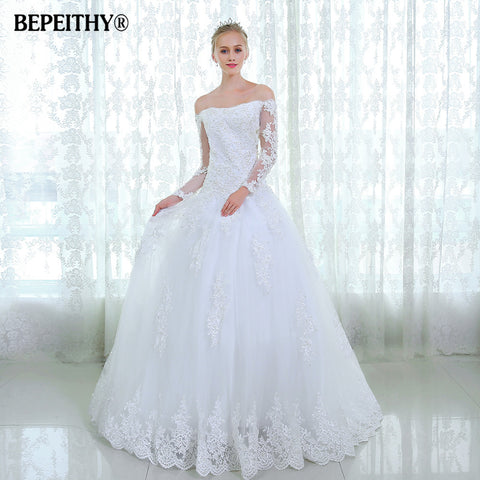Style White Lace Beading Court Train Sexy Backless Wedding Dresses