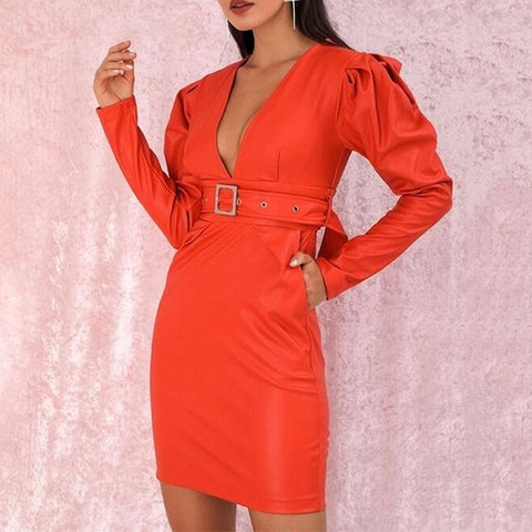 Causal Elegant Long Sleeve Belted Blazer Dresses
