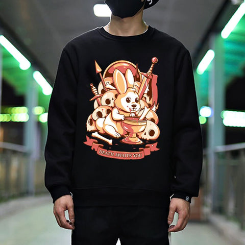 Death awaits you sweatshirts