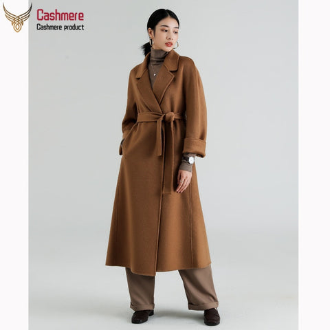 cashmere wave double side cashmere coat