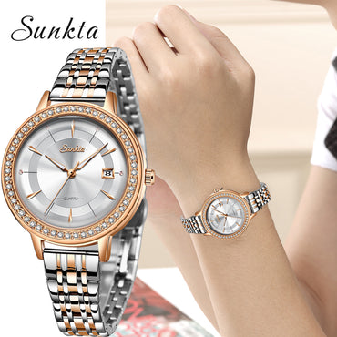 Classic Rose Gold Luxury Casual Waterproof Watches