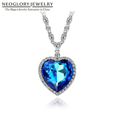 Heart of Ocean Blue Heart Necklace