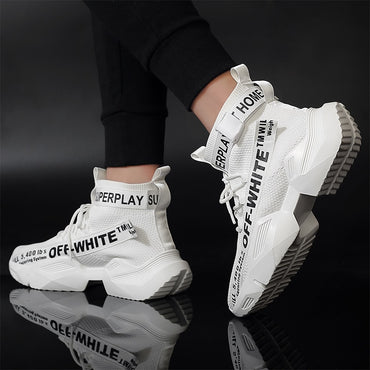 Off White Black Air Mesh Sneakers Shoes
