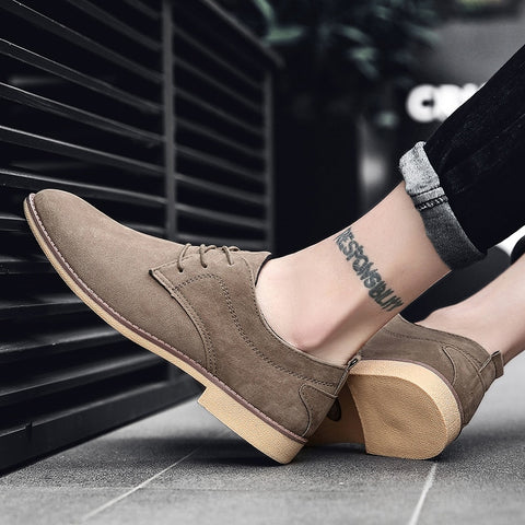 classical suede leather Oxford Shoes