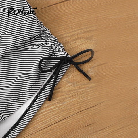 Striped Swim Shorts Casual Shorts Bikini
