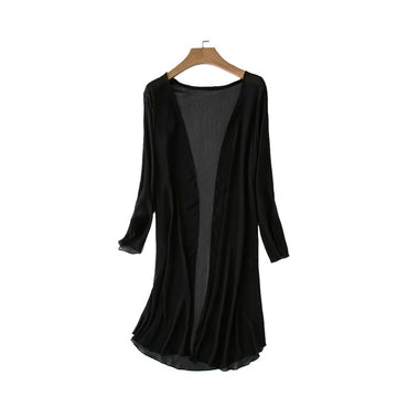 Cover Up Sun Protection Chiffon Blouse Long Sleeve Kimono