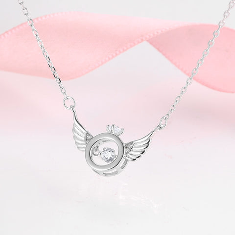 Sterling Wings of angels Adjustable Necklace