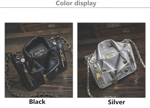 Chain Motorcycle Leather Handbags