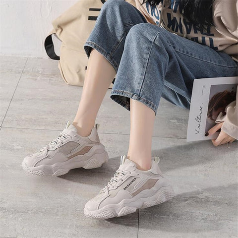 Casual Wedge Platform Vulcanized Luxury Shoes