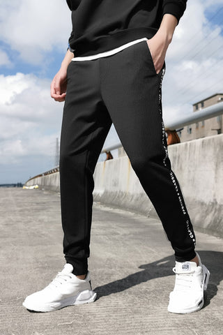 Ankle-length Black Track Pants