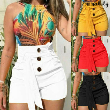 Casual Solid Beach Belt Hot Skinny Boho Bohemian Shorts