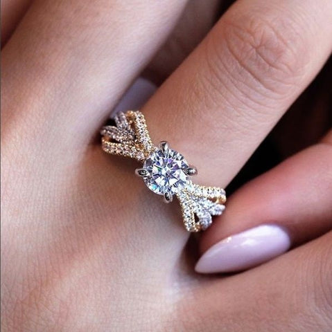 Gold Princess Diamond Ring