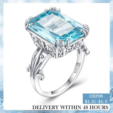 Aquamarine Sky Blue Topaz Ring
