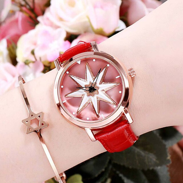 Luxury Rotation Exquisite Flower Watch