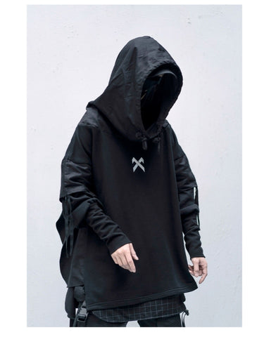 Ninja Tactics Fake two Printing Hoodies