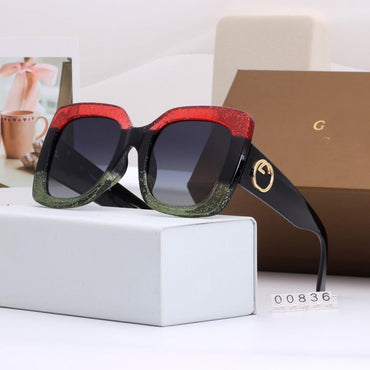 Luxury Style Shades Tricolor frame Square Sunglasses