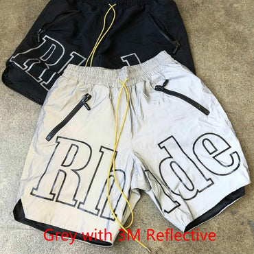 Reflective with Hip Hop Sportswear Rhude X Patron Shorts