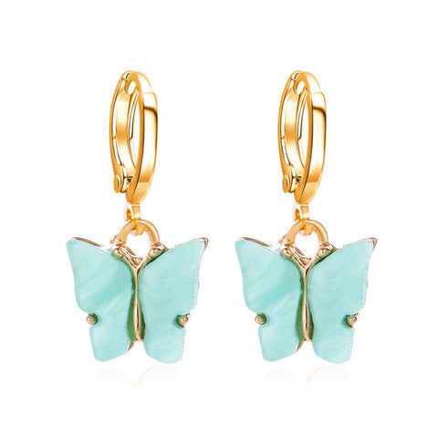 Color Acrylic Butterfly Colorful Earrings