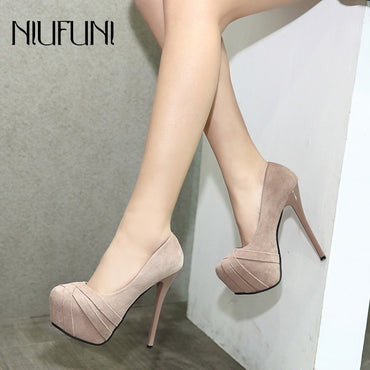 Sexy Suede Thin Heels