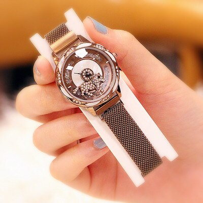 Magnet buckle authentic waterproof mesh belt watch