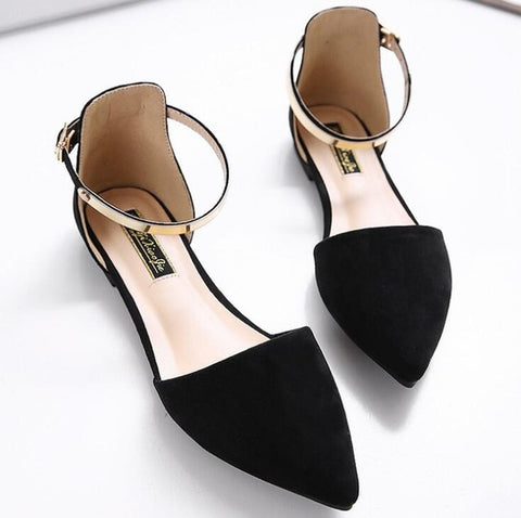 Metal Ankle Strap Moccasins Flat shoes