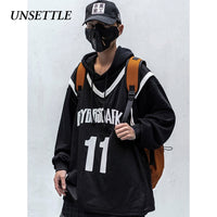 Tactics Vest Fake two suit Hip Hop Printing Hoodie