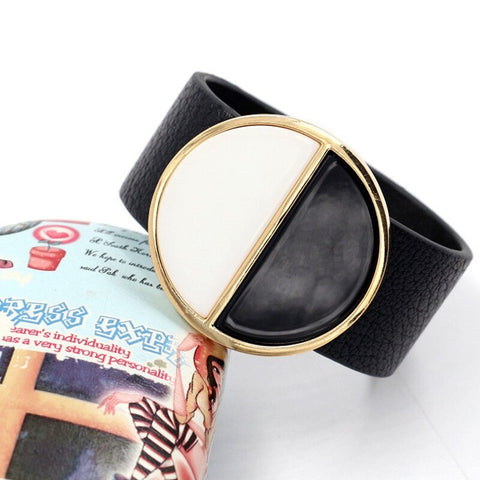 Exaggerated Geometric Big Round Circle Wide Bracelet Bangles