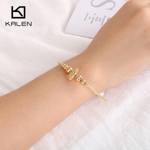 Stainless Steel Cable Wire Chain Adjustable Bracelet Bangle