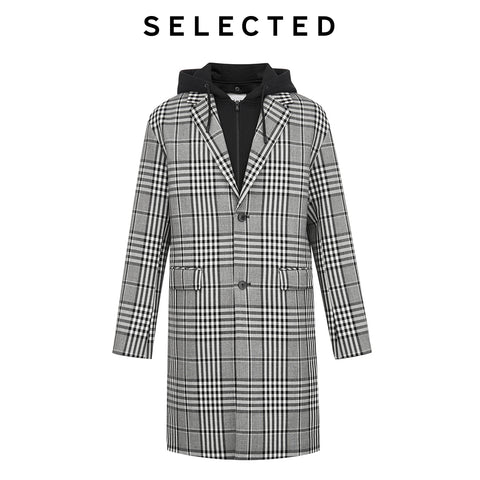 Detachable Fake Two piece Design Wool Coat
