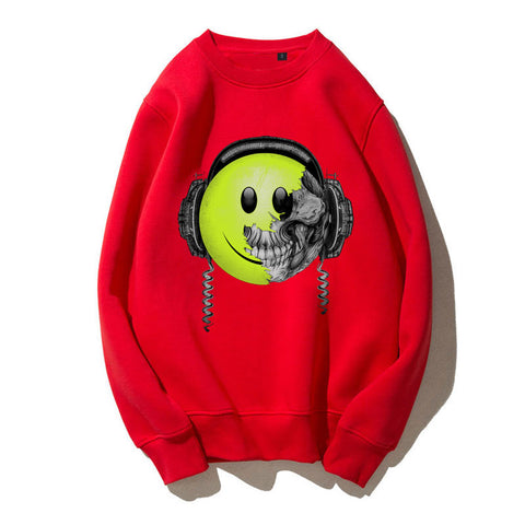 Death by music Fleece comfortable cotton Print Sweatshirt