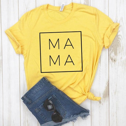 Mama Square Cotton Casual Funny t shirt