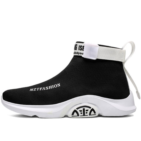 Casual High Top Breathable Slip On Basket Homme Platform Sneakers