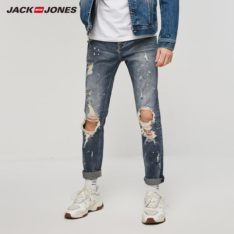 Ripped Spray Paints Jeans